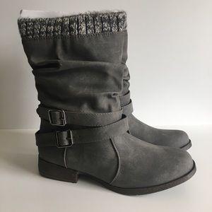 Shoedazzle Women's Morlan Grey Booties Size 7.5